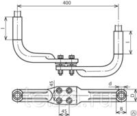 Зажим опорный 2А4А-300-3