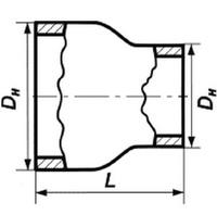 Переход 33,7х2,2-26,9х1,8 стальной концентрический ГОСТ 17378