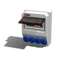 Alpenbox, розетка встраиваемая 16А, 250В, 3П, IP54 - 4 шт