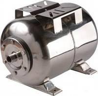 Бак расширительный (гидроаккумулятор) 24л. горизонт, нерж., мембрана EPDM UNIPUMP (арт. 85109)