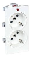 CIMA-модуль 2х2P+E, белый