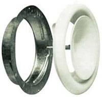 Диффузор приточный стальной D=100 с монтажным кольцом