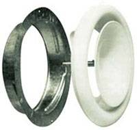 Диффузор приточный стальной D=160 с монтажным кольцом