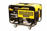 Генератор бензиновый однофазный 9,5 кВА, бак 25 л., расход 4,3 л/ч, KGE12Е
