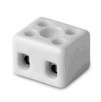 Клеммник керамический с отверстием для фиксации, 2 пол., 1-2.5 кв.мм