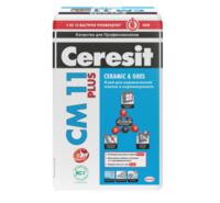 Клей СМ11 Церезит для плитки и керамогранита 25кг 1уп=48шт