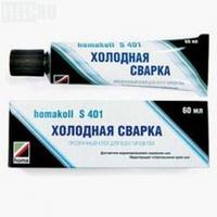 Клей Хомакол S401 с иглой холодная сварка 60 мл