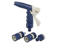 Комплект для полива (пистолет-распылитель, штуцер, коннектор, GREEN APPLE ЕСО