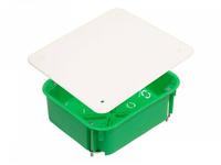 Коробка монтажная разветвительная 120х100х50 мм с крышкой для полых стен металл. лапки, IP 30