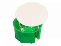Коробка монтажная разветвительная 80х45 мм с крышкой для полых стен пластиковые лапки, IP 30