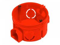 Коробка монтажная установочная 64х42мм для сплошных стен, IP20