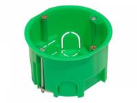 Коробка монтажная установочная 68х40 мм для полых стен металл. лапки, IP 30