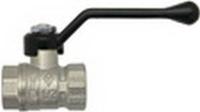 Кран шаровый рыч. 1/2 Вн.р. латунь/никель 600 Bugatti (уп.24 шт)