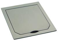 Крышка металлическая, платина, матовая, IP41