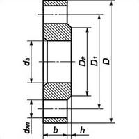 Фланец плоский стальной 1-65-25 ГОСТ 12820, Ру-25, Ду-65
