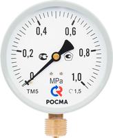 Манометр ТМ 510 Р радиальный Дк100 1,6 МПа кл. т. 1,0 М20х1,5 150 С Росма
