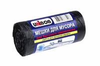 Мешки для мусора 60л, 60х70см, 8,5мкм, ПНД, цвет черный, 30шт/рул