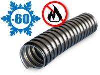 Металлорукав в ПВХ изоляции МРПИ НГ морозостойкий 25 (50 м/уп.) черный УХЛ1, t экспл -60 до +70°С, t монт до -20°С