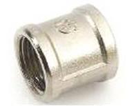 Муфта 3/4 ВР латунь/никель GF ( уп. 90 шт. )