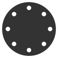 Заглушка фланцевая АТК 24.200.02-90 стальная (ст 20) Ру-6, Ду-40