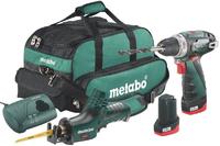 Набор аккумуляторных инструментов Metabo Combo Set 2.4 10.8В: шуруповерт BS 10,8 + сабельная ножовка ASE 685054000