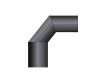 Отвод ПНД 90 сварной PN10 SDR17