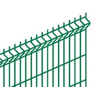 Панель DFence Эконом V3 2695*1470 яч.50х235 4мм Zn+ПП RAL6005 б/вырезов