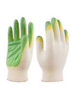 Перчатки х/б белые с односторонним латексным обливом