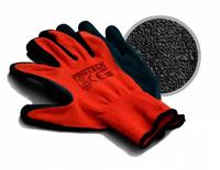 Перчатки полиэстр с песочным полимерным покрытием RESS