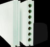ПГПВ 667*500*80 Плиты гипсовые для перегородок полнотелые гидрофобизированные Гипсополимер 1уп=30шт (0,3335м2)