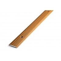 Порожек стыкоперекрывающий узкий (ПС01, 1350,088, орех) 1,35м*25 мм