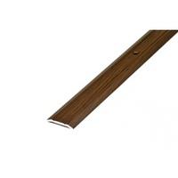Порожек стыкоперекрывающий узкий (ПС01, 1350,091, дуб темный) 1,35м*25 мм