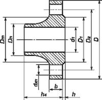 Фланец воротниковый стальной 1-125-16 ГОСТ 12821, Ру-16, Ду-125