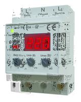 Реле контроля напряжения модульное 160-280В 40А тип РН-104