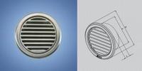 Решетка вентиляционная круглая с сеткой нержавейка D=125 мм