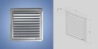 Решетка- крышка вентиляционная нержавейка 250x250 мм