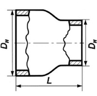 Переход 42,4х2,6-26,9х1,8 стальной концентрический ГОСТ 17378