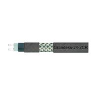 Саморегулирующийся экранируемый греющий кабель Grandeks-24-2CR, 220 В,24 Вт/м,цвет коричневый с УФ защитой