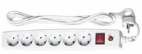 Сетевой фильтр 6 розеток, 3 м, серый