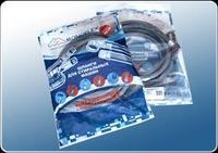 Шланг наливной для стиральной машины ( в пакете) 1 м., 3/4, 20 бар.Monoflex (кор.300шт.)