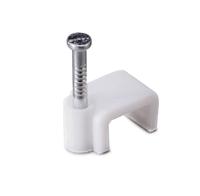 Скоба для кабеля плоская Б9 мм (50 шт) - пакет