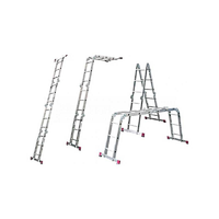 Стремянка-трансформер шарнирная 4х3 рабочая высота 4,4 м MULTIMATIC