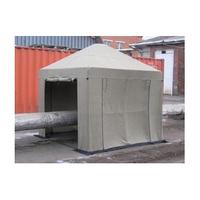 Палатка сварщика брезентовая 3х3 м (усиленный каркас из трубы 25мм)