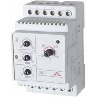 Терморегулятор на DIN-рейку с датчиком 3м с регулятором (t=-10+50 С) IP20 Д-316