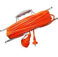 Удлинитель 1 розетка, 40 м, шнур на рамке, УШ-10 ПВС 2x1