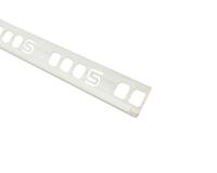 Угол внутренний белый д/кафеля 9-10мм., 2,5м, Уп=25шт.