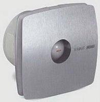 Вентилятор осевой 98 куб.м/час 15Вт 230В настенный (диам.шахты 100 мм) цвет нержавеющая сталь X-Mart