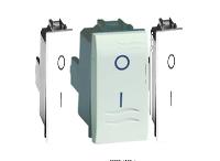 Выключатель двухполюсный, белый, 1 модуль