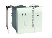 Выключатель двухполюсный, белый, 2 модуль