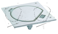 Влагостойкая крышка для одного мех-ма K45, с клавишей, сталь
